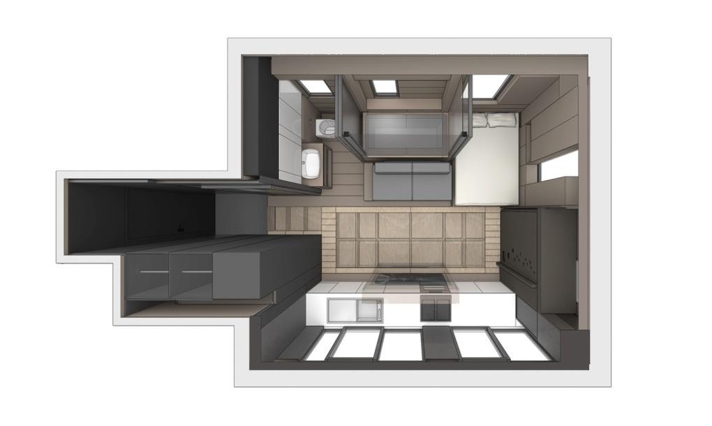 Мини-дом-трансформер, план-схема