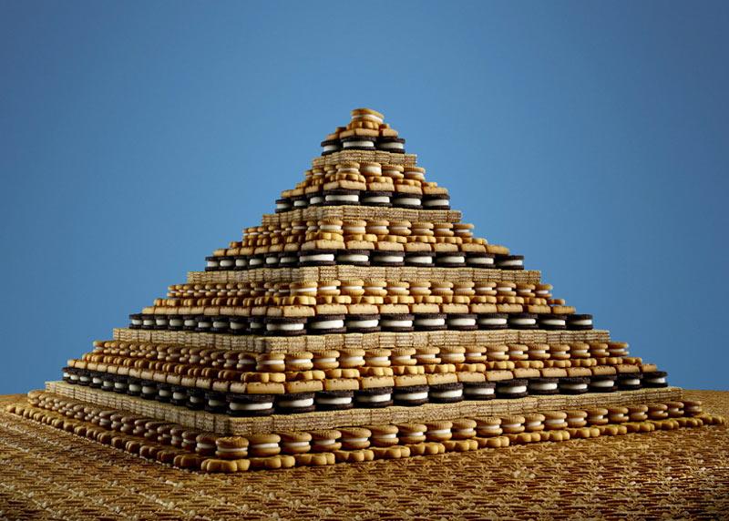 Пирамида из печенья художника Сэма Каплана