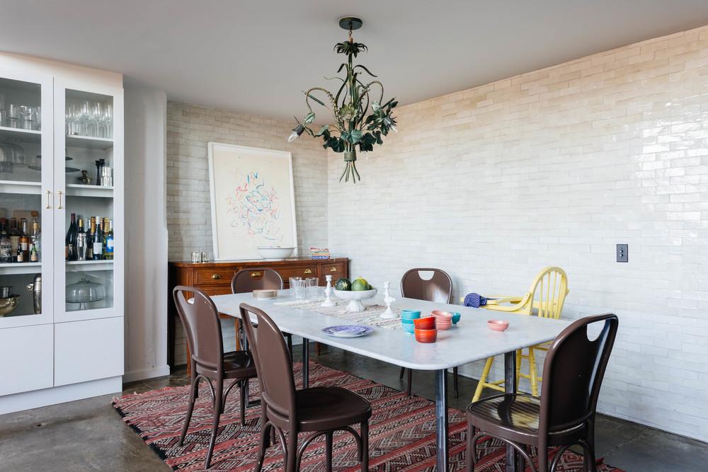 Лофт дизайн столовой