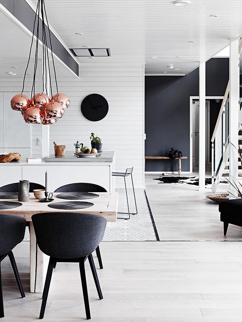 Черно-белый декор дома