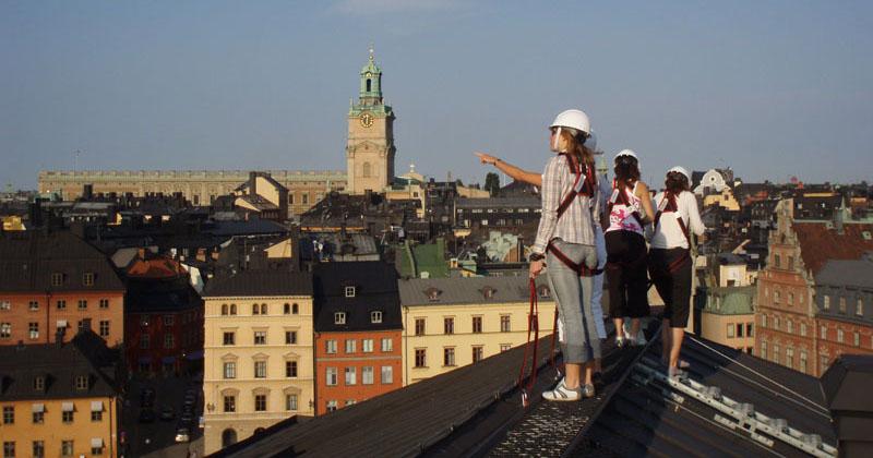Экскурсия по крышам Стокгольма