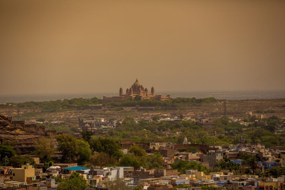Джодхпур, вид на дворец махараджи