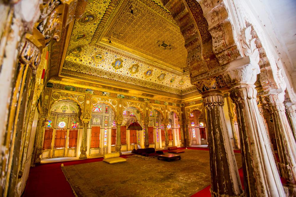 Джодхпур, зал во дворце махараджи