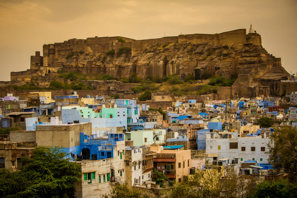 Джодхпур, вид на голубой город