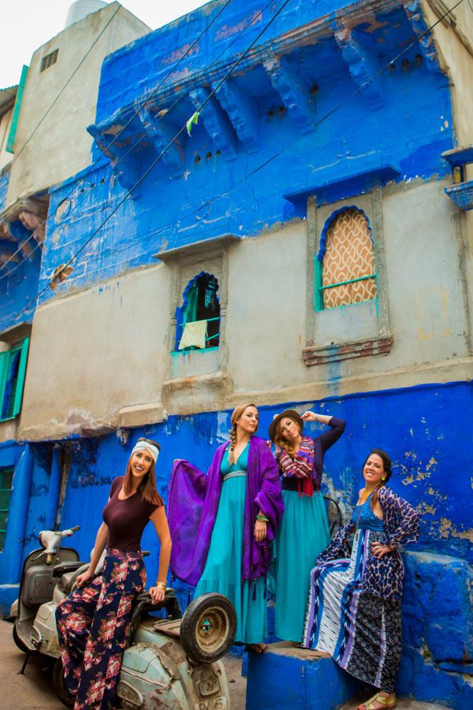 Девушки на улицах Джодхпура