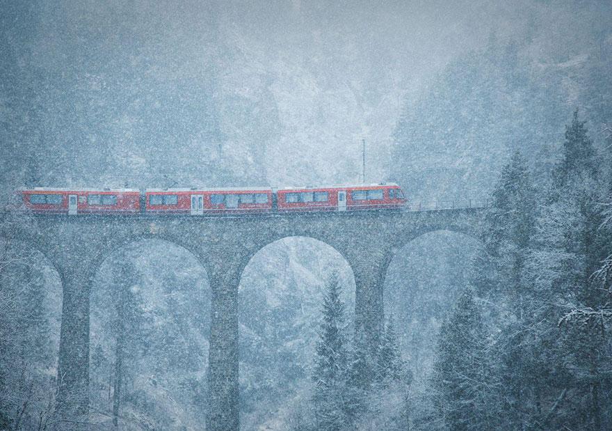 Метель в горах, Швейцария, конкурс фотографий National Geographic трэвел-фотограф года 2016