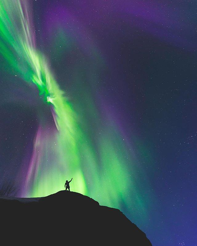 Северное сияние в Норвегии, очень красивое фото