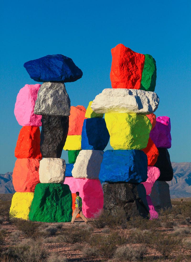 Семь волшебных радужных гор вблизи Лас-Вегаса