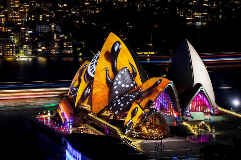 Сиднейская опера, Vivid 2016 Фестиваль света в Сиднее, Австралия