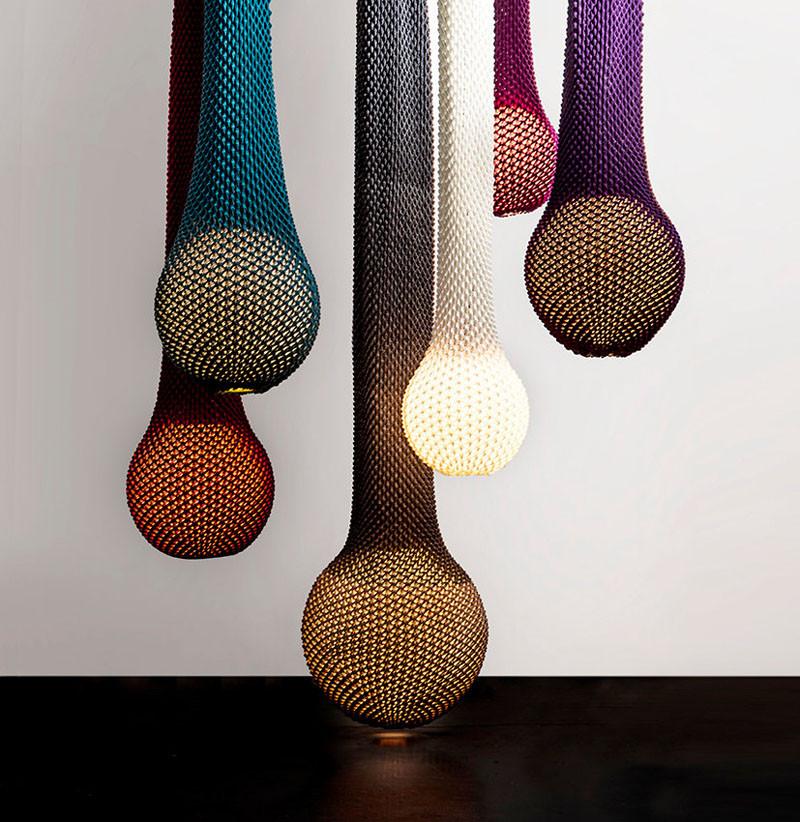Вязаный декор для светильников