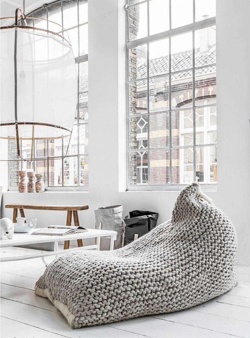 Вязаный декор, вязаное кресло