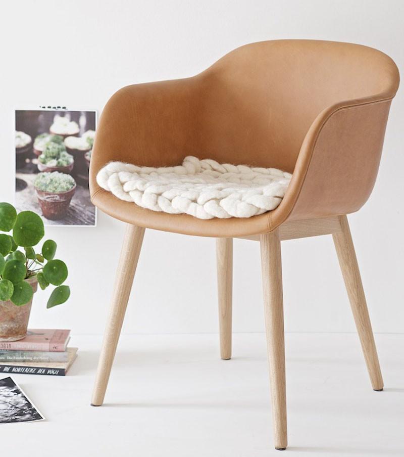 Вязаный декор, подкладка на стул