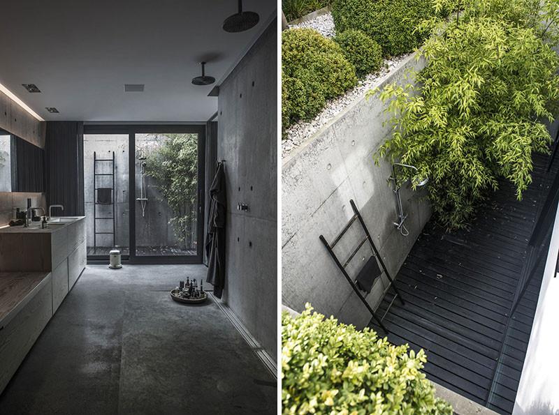 Уличный душ в палисаднике