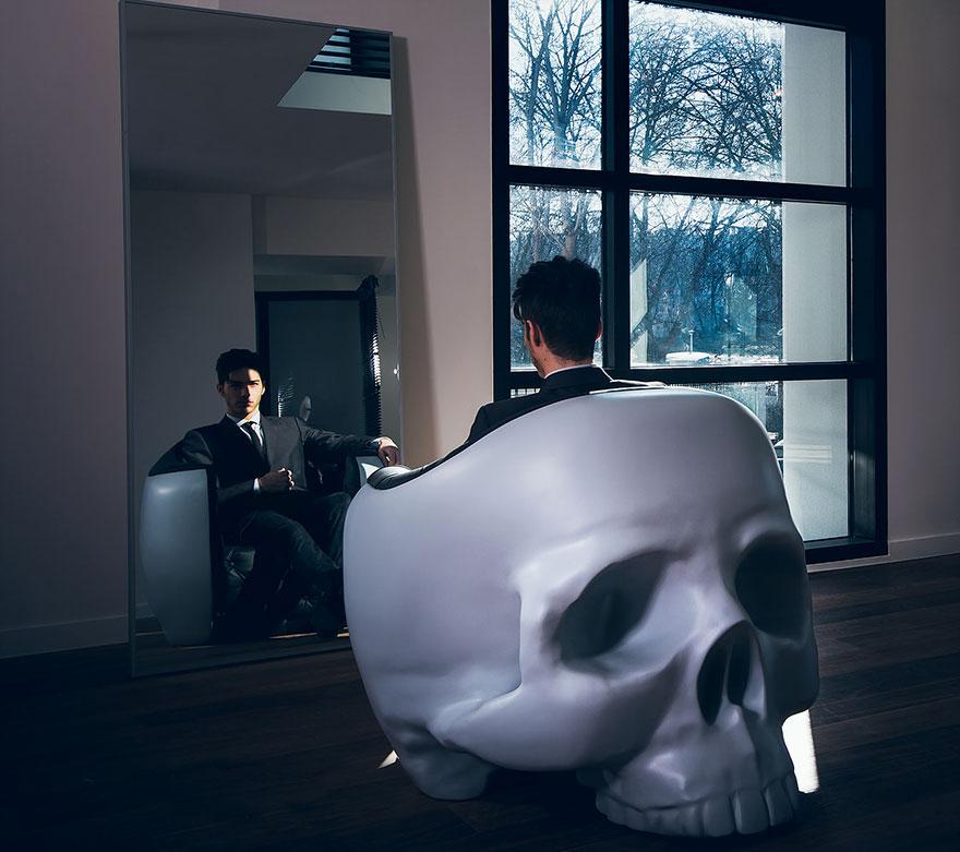 Дизайнерское кресло Череп