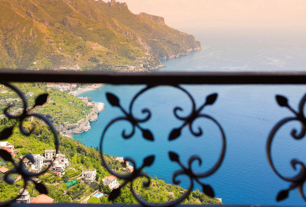 Вид на побережье Амальфи, Италия