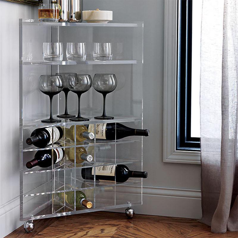 Домашний бар, стеллаж-тележка для хранения вина. SAIC Tonic Bar Cart from CB2