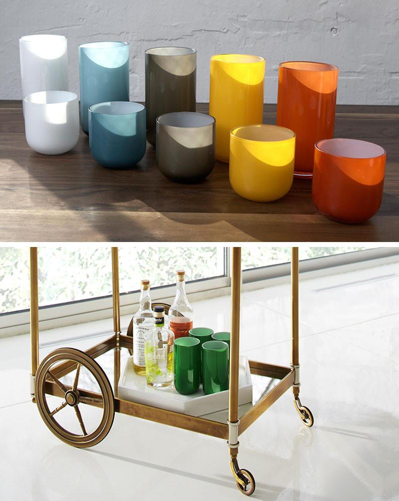 Набор разноцветных барных стаканов Хайбол. POP HIGHBALL GLASS from Jonathan Adler