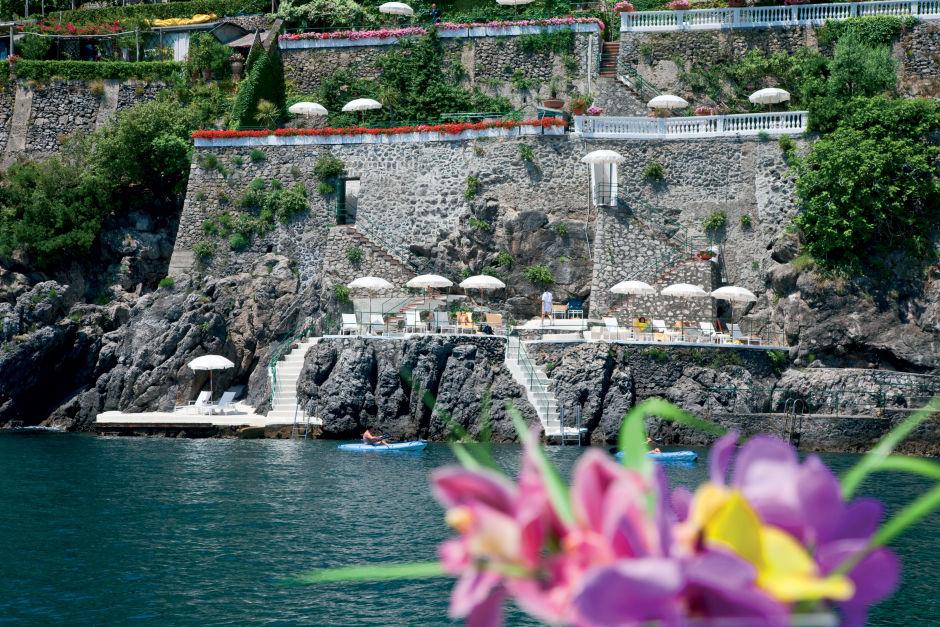 Hotel Palazzo Avino seaside view