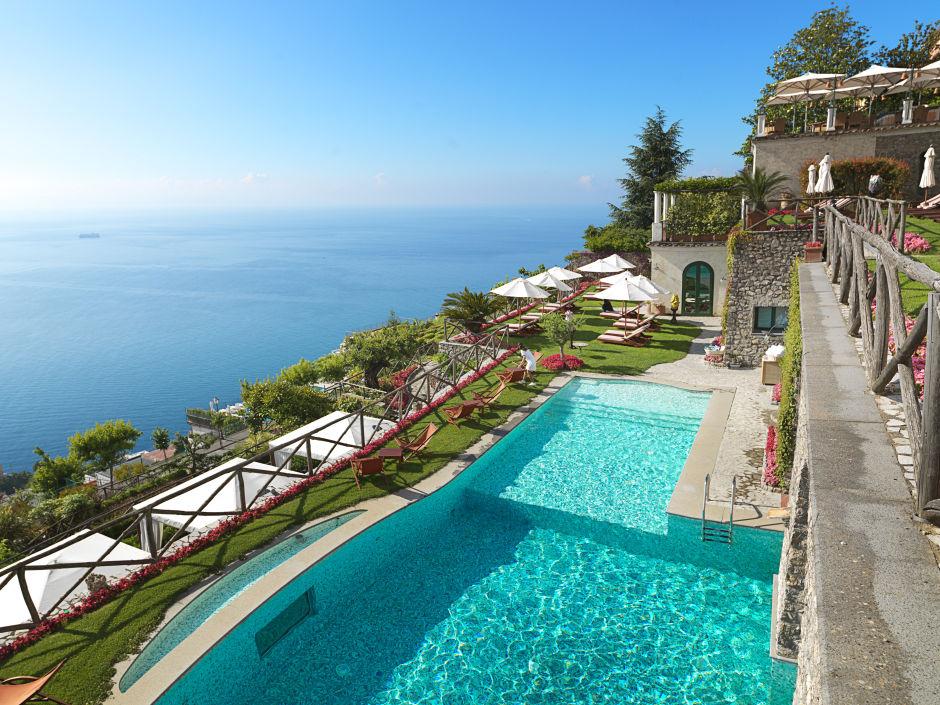 Hotel Palazzo Avino swimming pool view