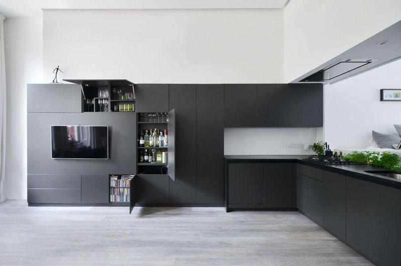 Стиль минимализм в гостиной/кухне