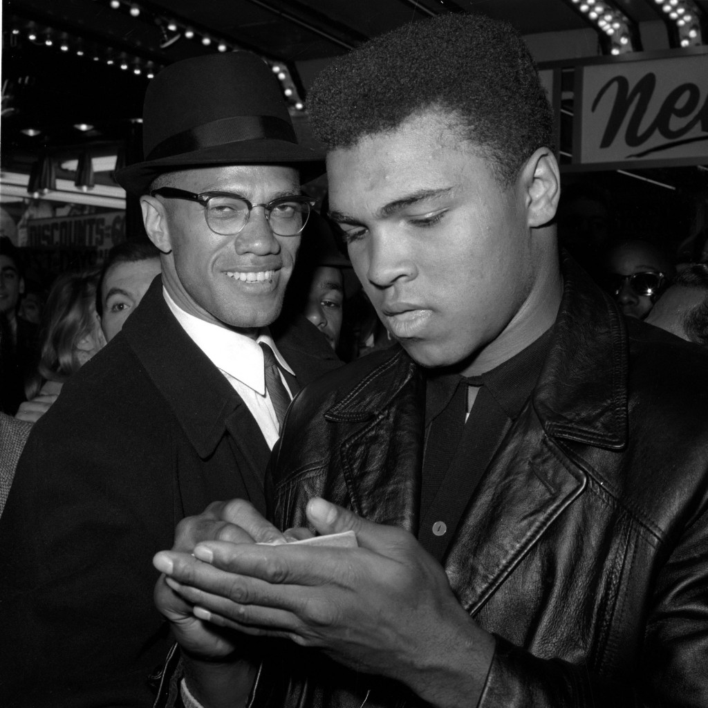 Мохаммед Али и лидер черных мусульман Малкольм Икс