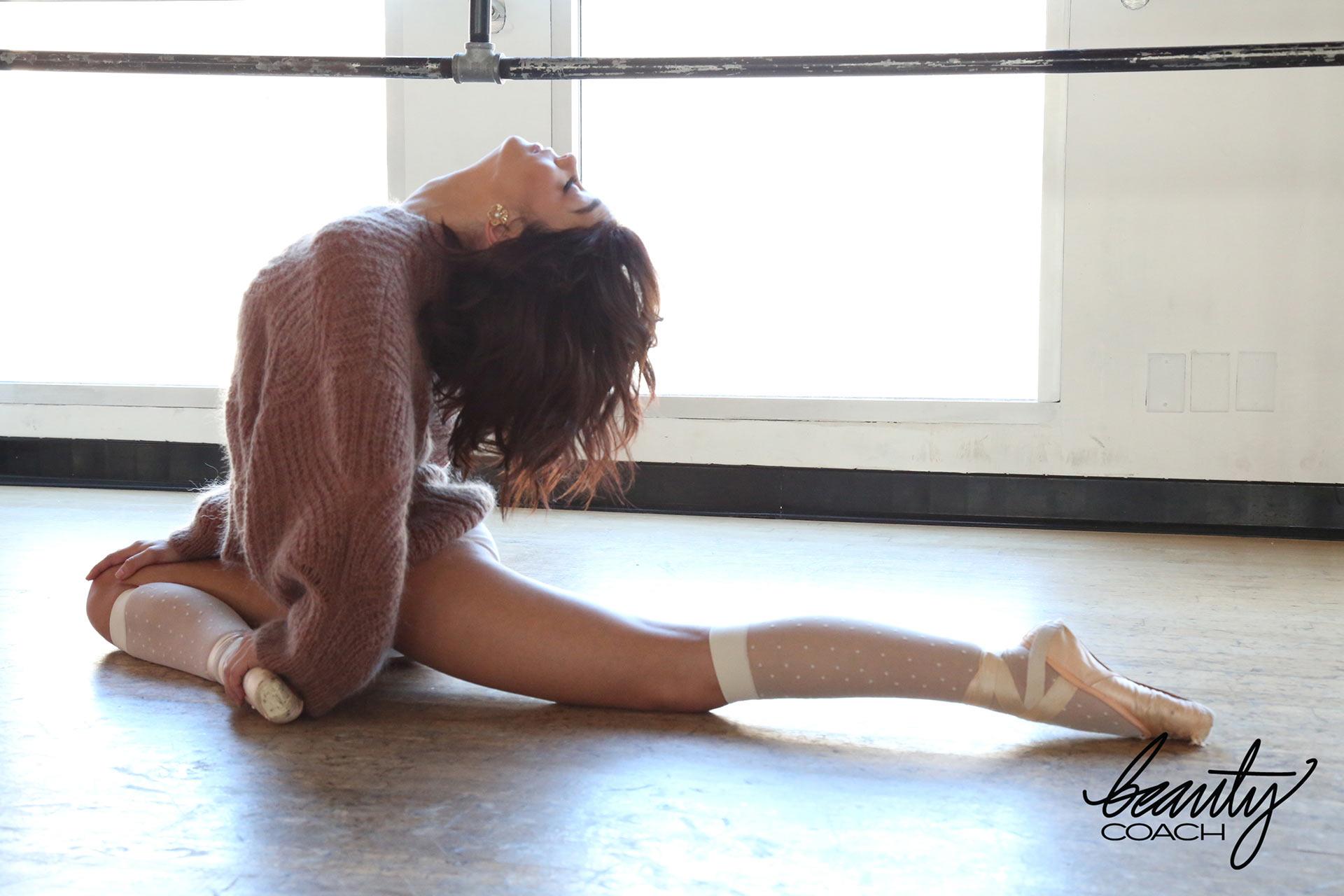 Сара Хайланд в образе балерины