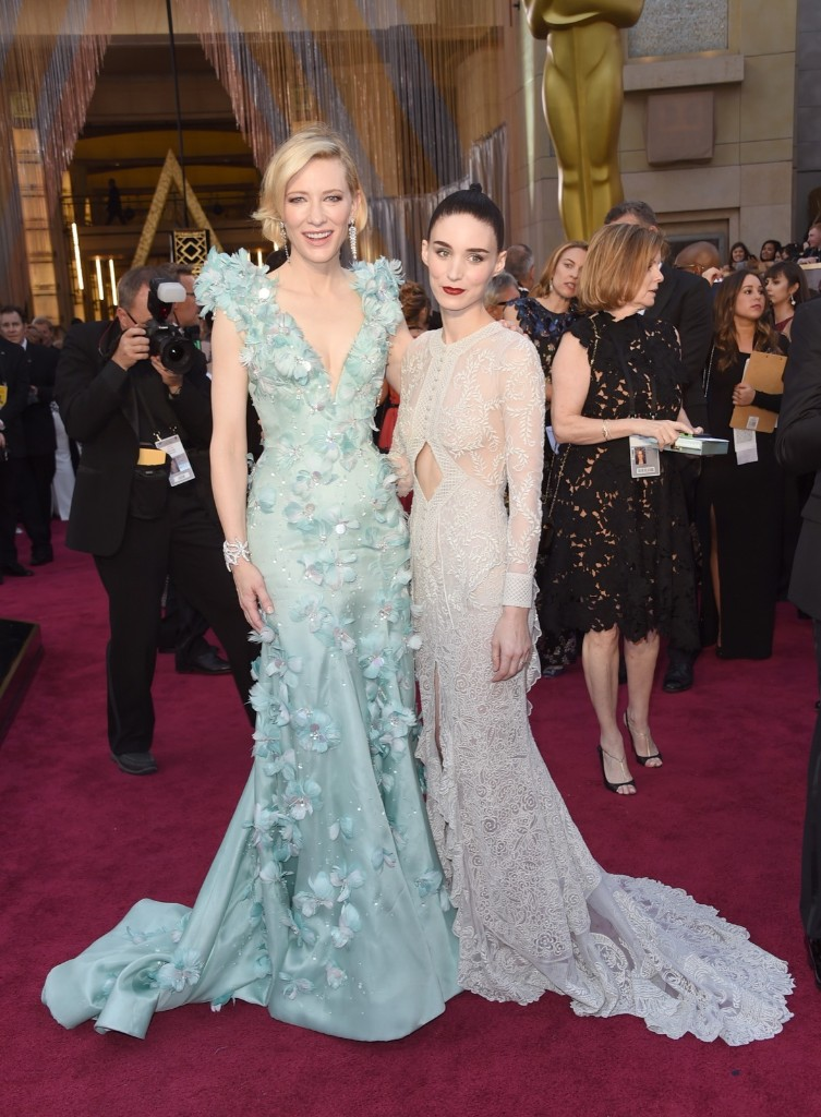 Cate Blanchett and Rooney Mara arrive at the Oscars