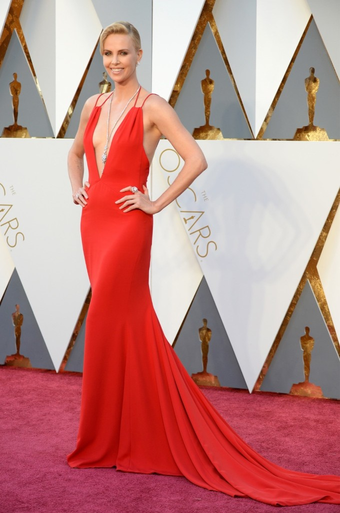 Charlize Theron attends the 88th Annual Academy Awards