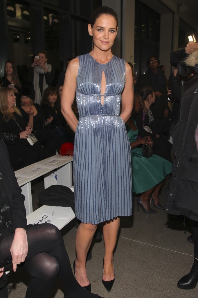 Katie Holmes attends the Zac Posen NYFW