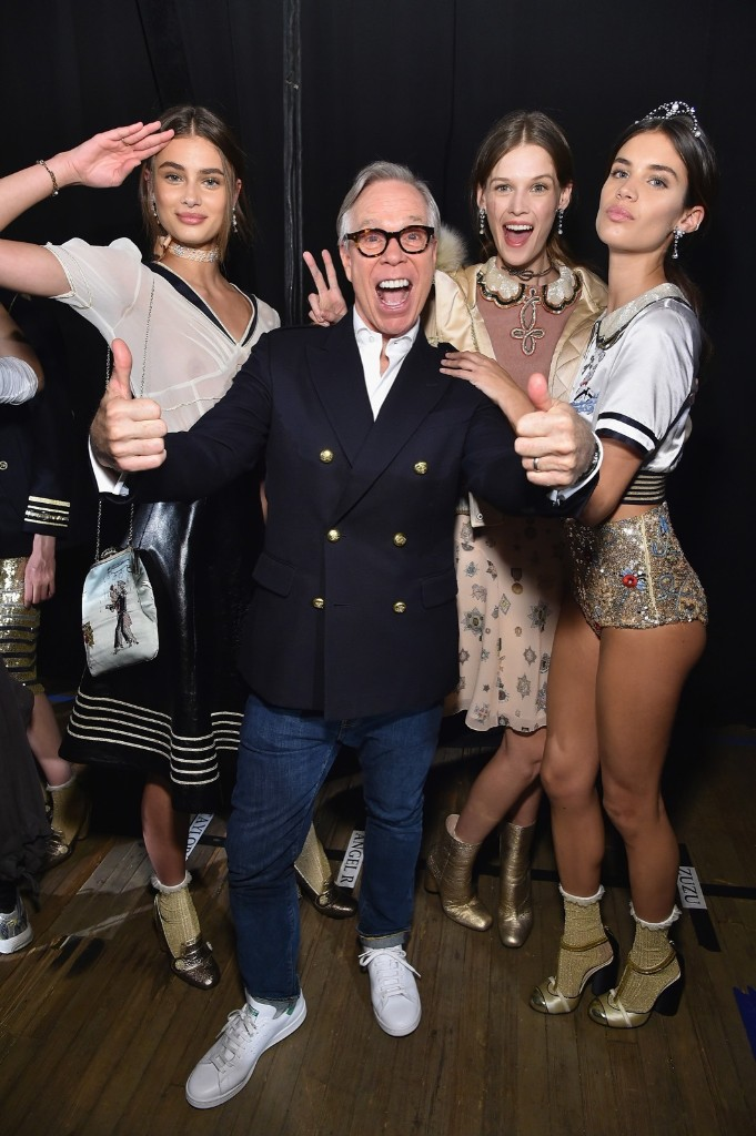 Tommy Hilfiger backstage at the his show during New York Fashion Week
