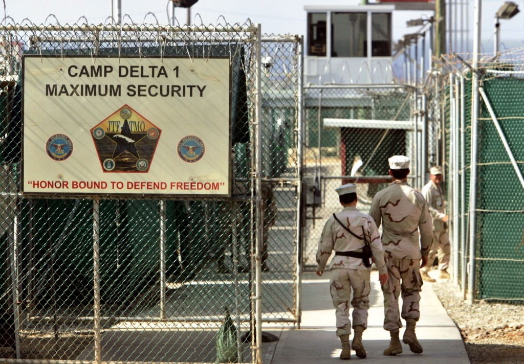 U.S. military guards at Camp Delta prison