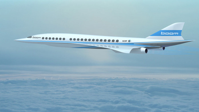 Boom - supersonic Jet. The fastest passenger Airplane ever