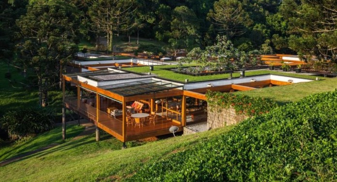 the Grid House, a modern architectural masterpiece in Sao Paulo