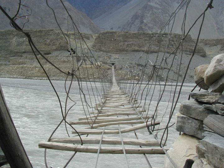 The Hussaini Hanging Bridge, Pakistan