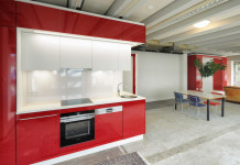 The Hub kitchen and bedroom