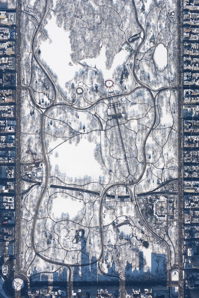 """Snowy Central Park at 10,000 feet"" by Filip Wolak, Poland"