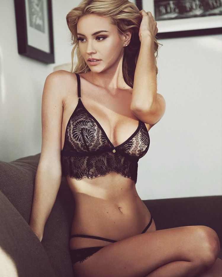Lingerie-clad model Bryana Holly