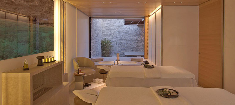 Room in Amanzoe Hotel. Poros Island, Greece