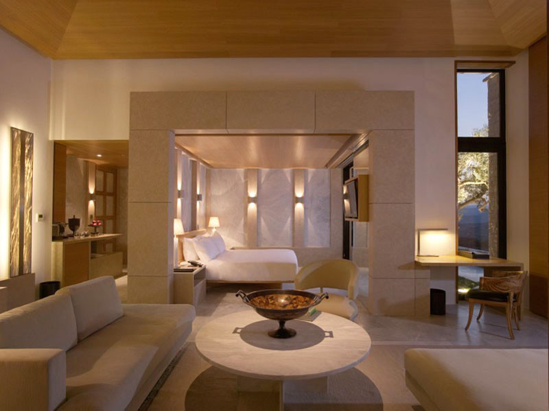 Suite in Amanzoe Hotel. Poros Island, Greece