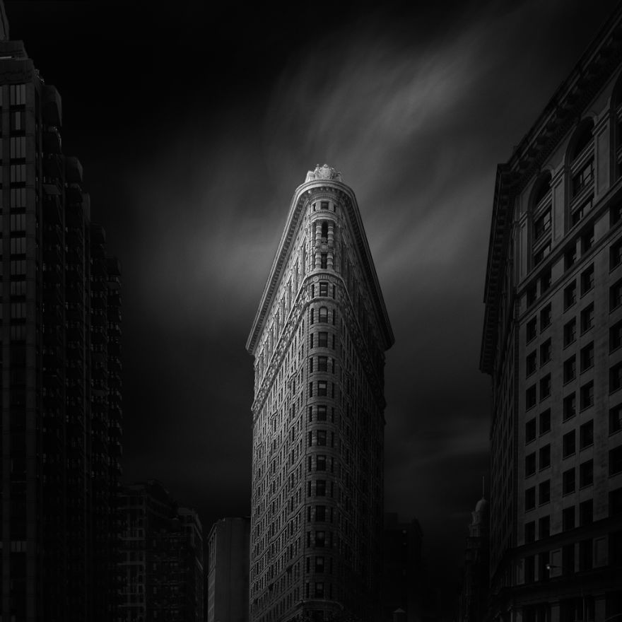 New York. Flatiron. Black & white photo