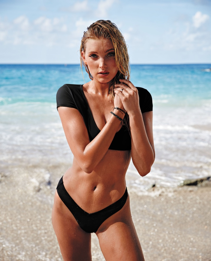 Elsa Hosk Victoria's Secret Model at St. Barth
