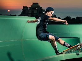 Skateboarders turned waterpark Aquaventure into the Ultimate Skate Playground