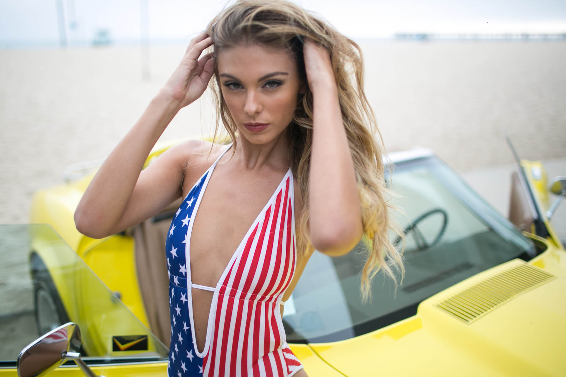 Carmella Rose and Chevrolet Stingray