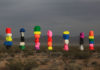 Seven Magic Mountains near Las Vegas