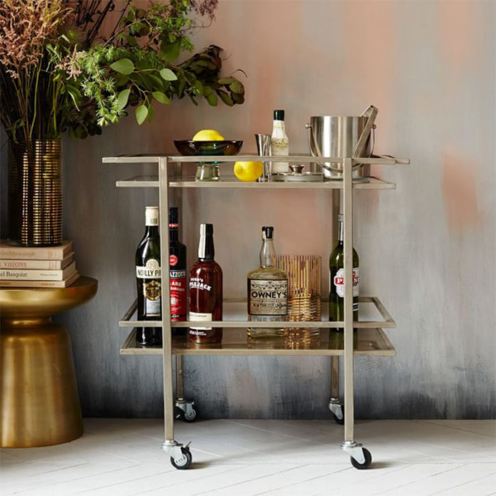 Барная тележка. Bell Hop Bar Cart from West Elm